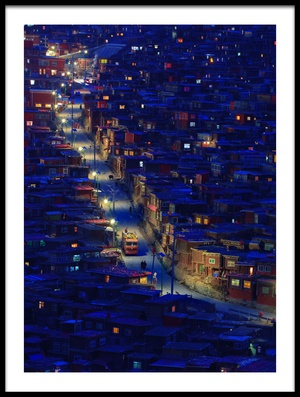 Art print titled Larung Gar by the artist Hesham Alhumaid