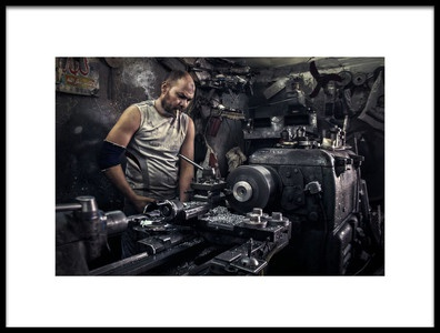 Buy this art print titled Lathe Guy Like a Boss by the artist Mahmoud Fayed