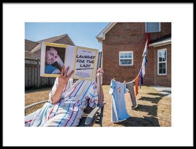Art print titled Laundry for the Lazy by the artist Mike Melnotte