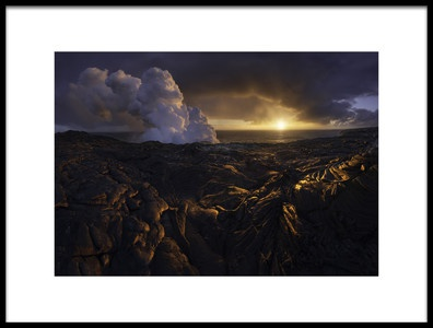 Art print titled Lava Fields by the artist INIGO CIA