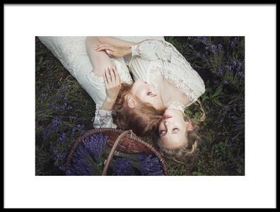 Art print titled Lavender Field by the artist Dorota Gorecka