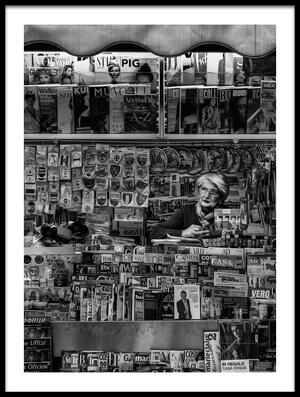 Art print titled L'Edicola by the artist Massimo Della Latta