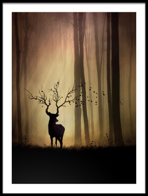 Art print titled Legendes D'automne by the artist Sebastien DEL GROSSO