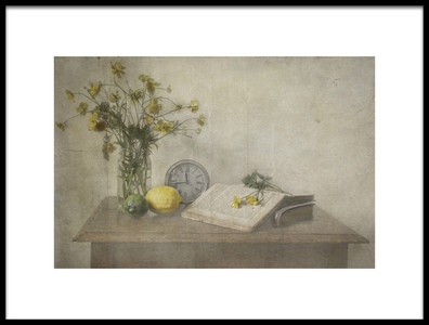 Art print titled Lemon Still Life by the artist Deborah Gugeri