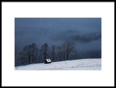 Art print titled Let Is Snow by the artist nicu hoandra