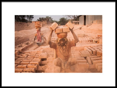 Art print titled Life of Worker by the artist Sagar Chatterjee
