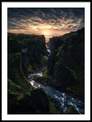 Buy this art print titled Light Canyon by the artist Juan Pablo de Miguel