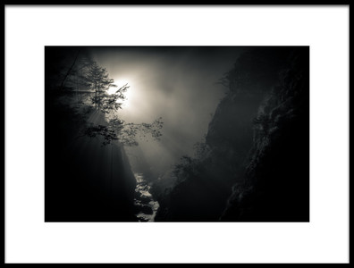 Art print titled Light In the Canyon by the artist Josef Sieberer