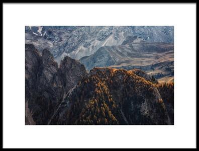 Art print titled Light of Autumn by the artist Uschi Hermann