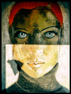 Art print titled Light On Her by the artist Ton Dirven