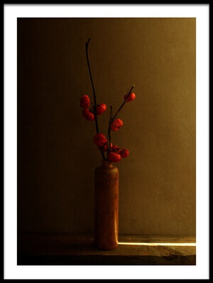 Art print titled Light On the Vase by the artist Margaret Halaby