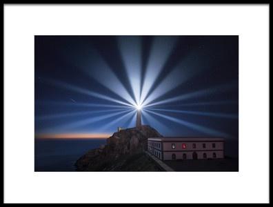 Art print titled Light the Night by the artist Carlos F. Turienzo