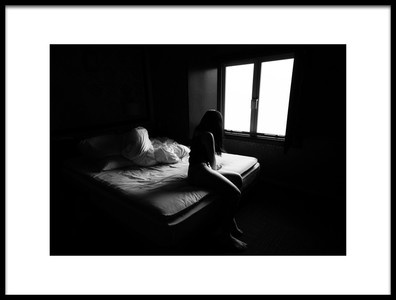 Art print titled Light ,woman by the artist Ryota Dogen