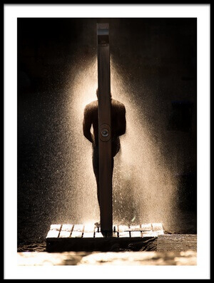 Art print titled Lighting Bath by the artist Jorge Feteira