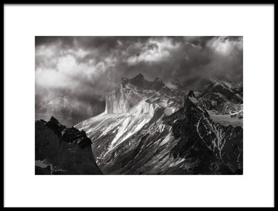 Art print titled Lights from Patagonia by the artist Carlos Guevara Vivanco