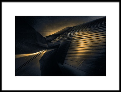 Art print titled Lights of the Erasmusbridge by the artist Stefan Kierek