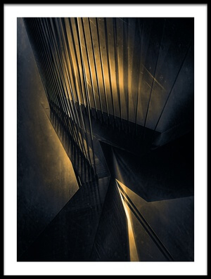 Buy this art print titled Lights of the Erasmusbridge by the artist Stefan Kierek
