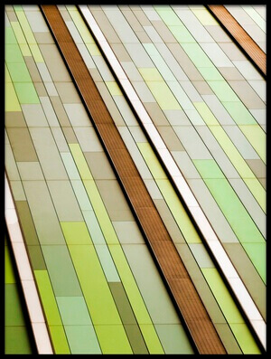 Art print titled Linear In Green by the artist Linda Wride