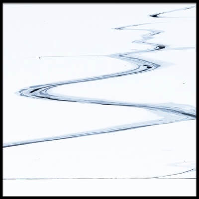 Art print titled Lines On the Ice by the artist miquel angel artús illana