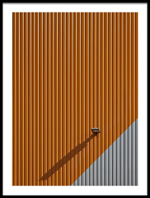 Art print titled Lines,colour and Shadow by the artist Hans Peter Rank