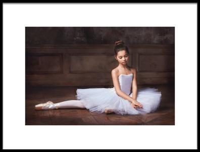 Art print titled Little Ballerina3 by the artist Alina Lankina