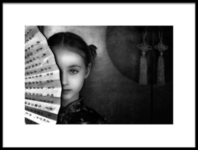 Art print titled Little China Girl by the artist Lidia Vanhamme