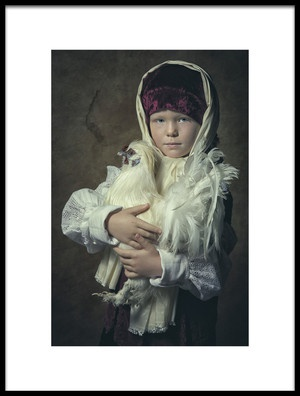 Art print titled Little Farm Girl by the artist Carola Kayen-Mouthaan