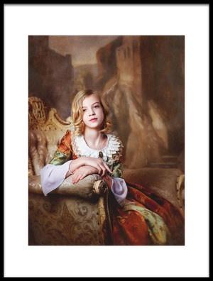 Art print titled Little Lady by the artist Alina Lankina