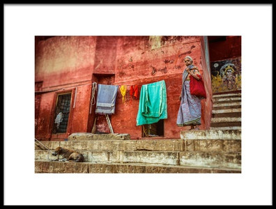 Art print titled Living at the Ghats by the artist Yancho Sabev