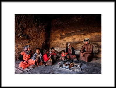 Art print titled Living In the Cave by the artist Andrei Nicolas - The Traveler