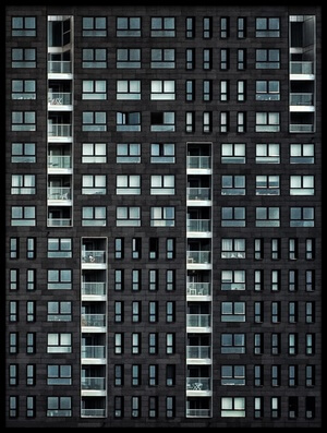 Art print titled Living In the City by the artist Piet Flour
