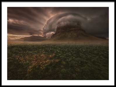 Buy this art print titled Lómagnúpur Cloud Cap by the artist Peter Svoboda MQEP