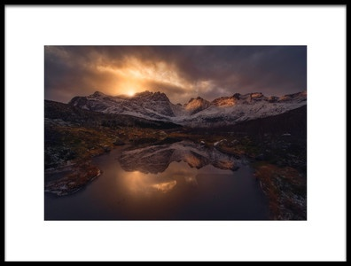 Art print titled Lofoten Mountains by the artist INIGO CIA