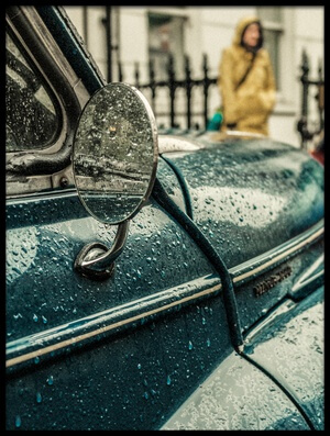 Art print titled London Rain by the artist Riccardo Berg