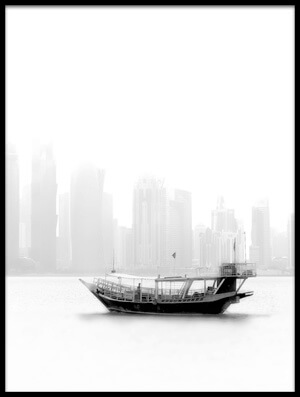 Art print titled Lonely Boat by the artist Ahmed Lashin
