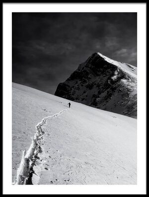 Art print titled Lonely Climber by the artist Marcel Rebro