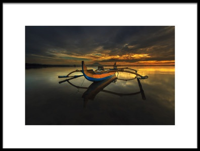 Art print titled Lonely In Serenity by the artist Ocky Ochtavian Watulingas