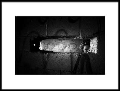 Art print titled Looking Over the Wall by the artist Rabia Basha