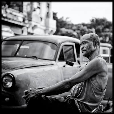 Art print titled Looking the West  Havana, Cuba by the artist Aleksander Poniewierski