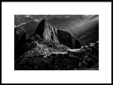 Art print titled Lost City of the Incas by the artist Alejandro Fernández Muñoz