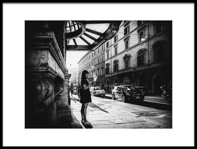 Art print titled Lost In Her Thoughts by the artist Massimiliano Mancini