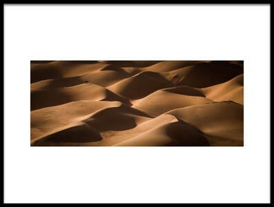 Art print titled Lost In the Golden Dunes by the artist khalid jamal