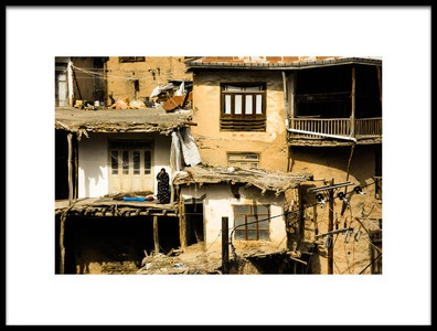 Art print titled Lost Village by the artist Navid Eftekhari