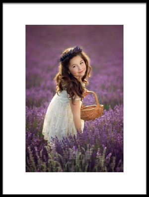 Art print titled Lovely Smile In Lavender by the artist Jana Kvaltinova