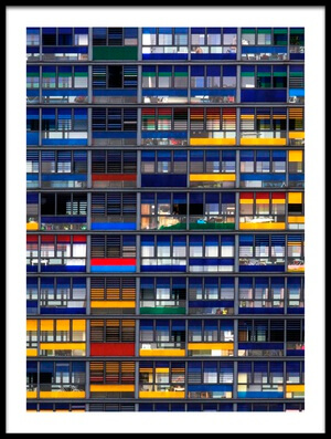 Buy this art print titled Low Budget Flats by the artist Jef Flour