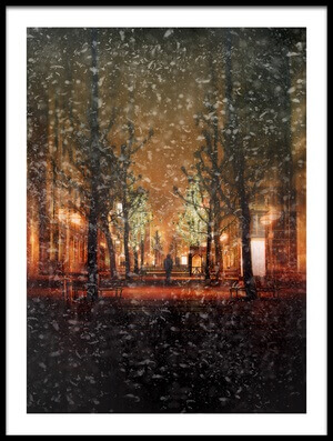 Art print titled Magic Night by the artist Krisztina Lacz