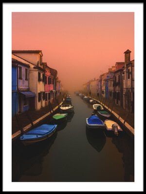 Art print titled Magical Burano by the artist Davorin Baloh