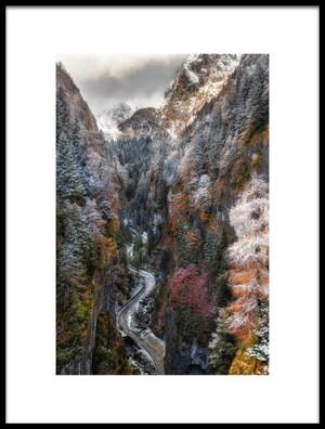 Art print titled Magliavela Gorge by the artist Javier Olmedo