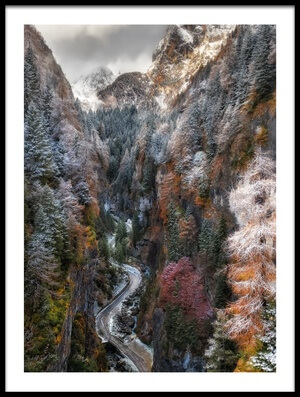 Art print titled Magliavela Gorge by the artist Javier Olmedo