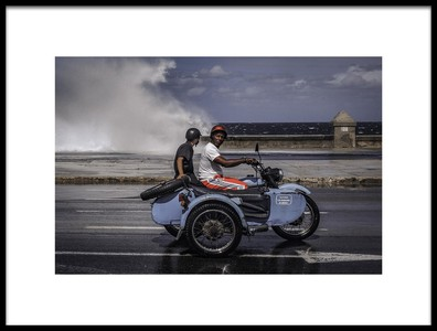 Art print titled Malecon by the artist Andreas Bauer